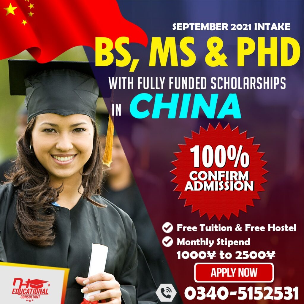 Master in China on Scholarship